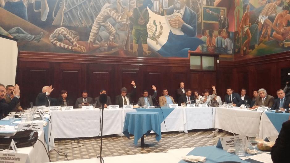 En jefes de bloque la propuesta fue apoyada, pero en el pleno fue distinto (Foto: José Miguel Castañeda/Soy502)