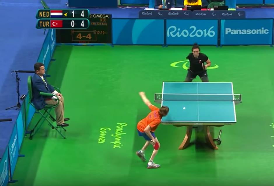 La holandesa rescató un punto que su rival ya celebraba.  (Captura de Pantalla/Paralympic Games)