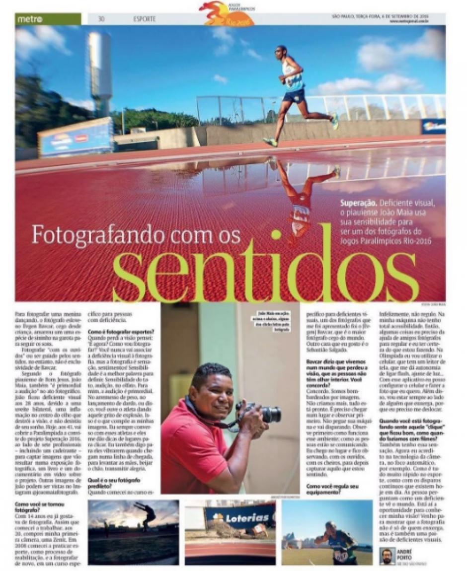 Joao Maia el fotógrafo ciego que triunfa en los Juegos Paralímpicos Río 2016. (Foto: Joao Maia)