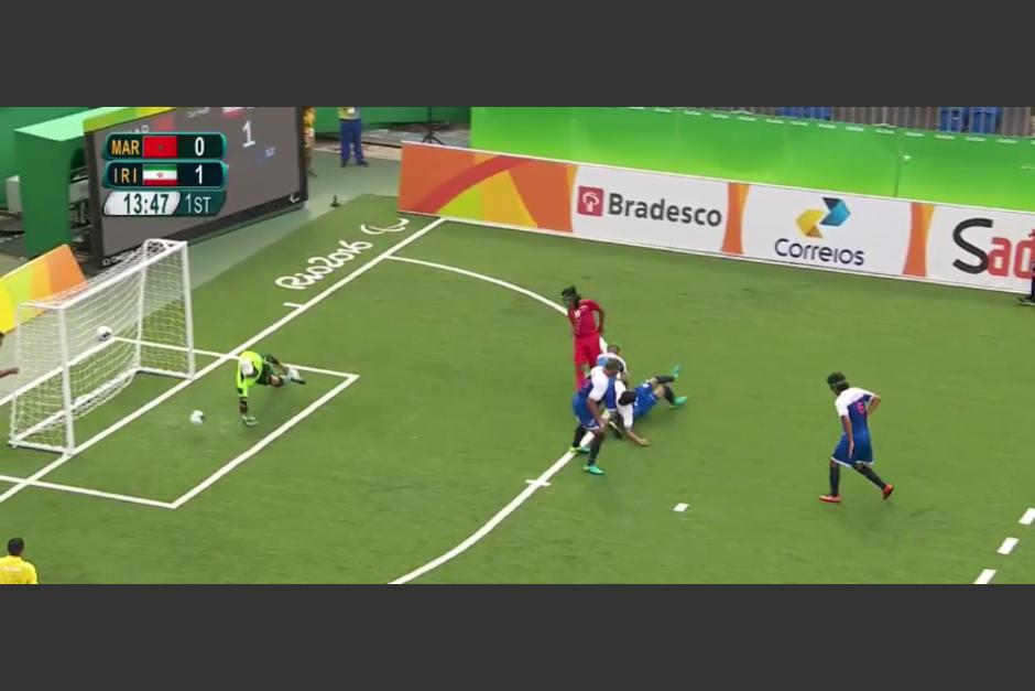 Behzad Zadaliasghari metió un golazo en Río. (Captura de Pantalla)