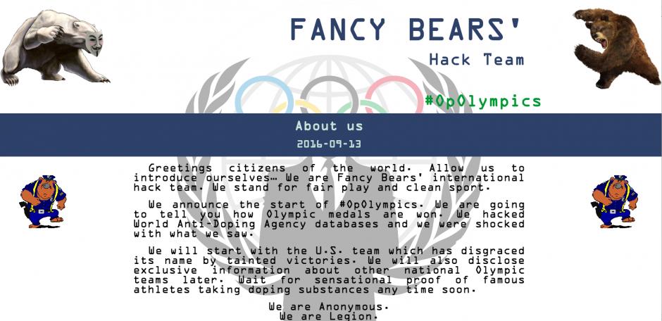 """La página de Fancy Bears explica que están """"sorprendidos"""" por lo encontrado. (Foto: Página Fancy Bears)"""