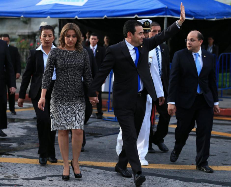 El presidente Jimmy Morales participó de las actividades cívicas. (Foto: Twitter/Gobierno de Guatemala)