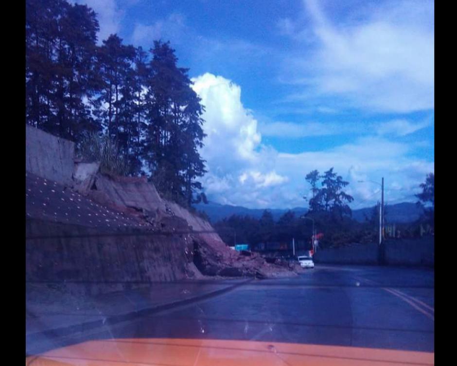 Así reportó Conred la emergencia en San José Pinula. (Foto: Twitter/@ConredGuatemala)