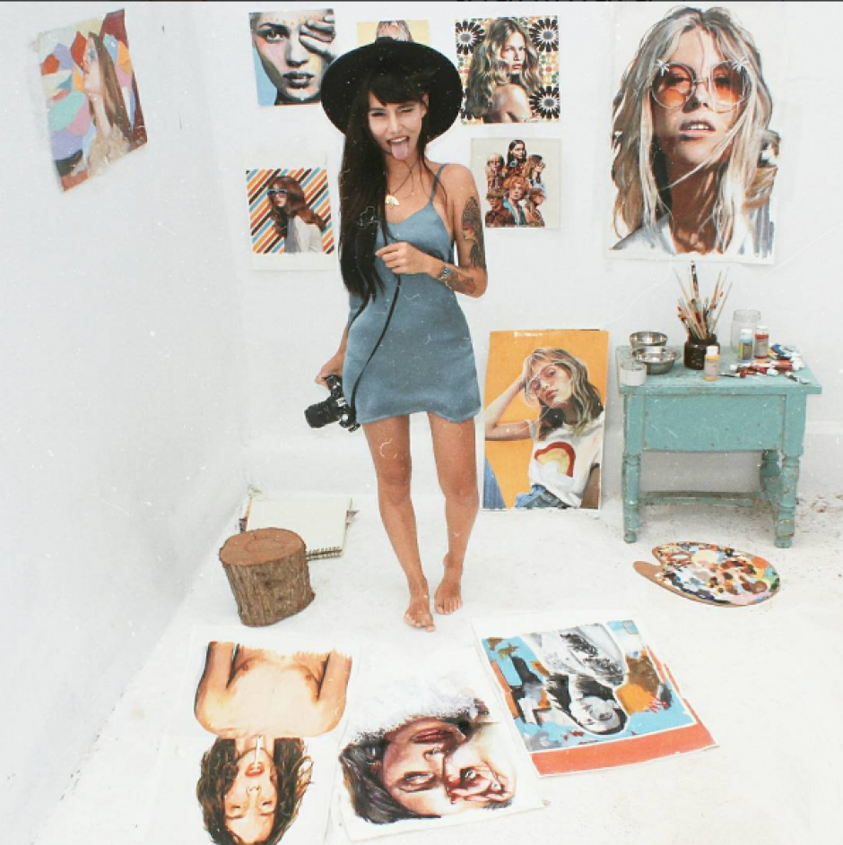 Así es la bella Thani Mara, la ilustradora sexy que triunfa en la red. (Foto: Instagram)