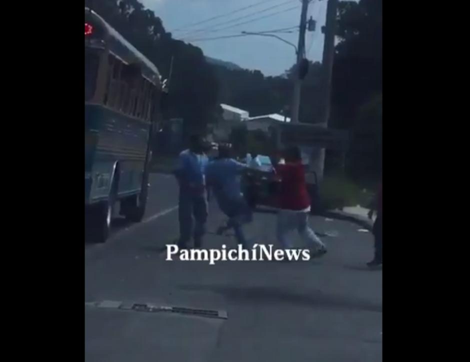 En esta ocasión fue en Amatitlán. (Foto: Captura de Facebook/PampichíNews)