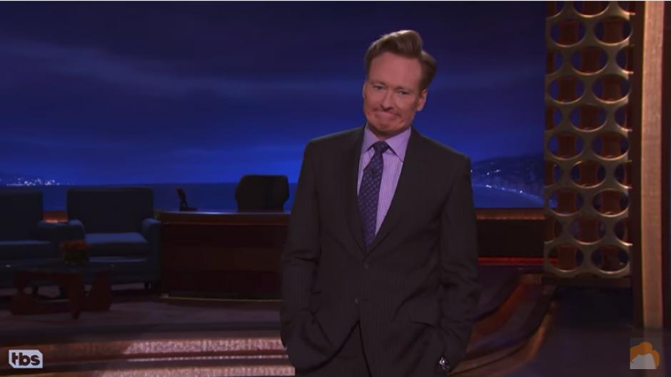 El presentador Conan O'Biren dice que eso puede pasar en cualquier momento. (Captura Youtube)