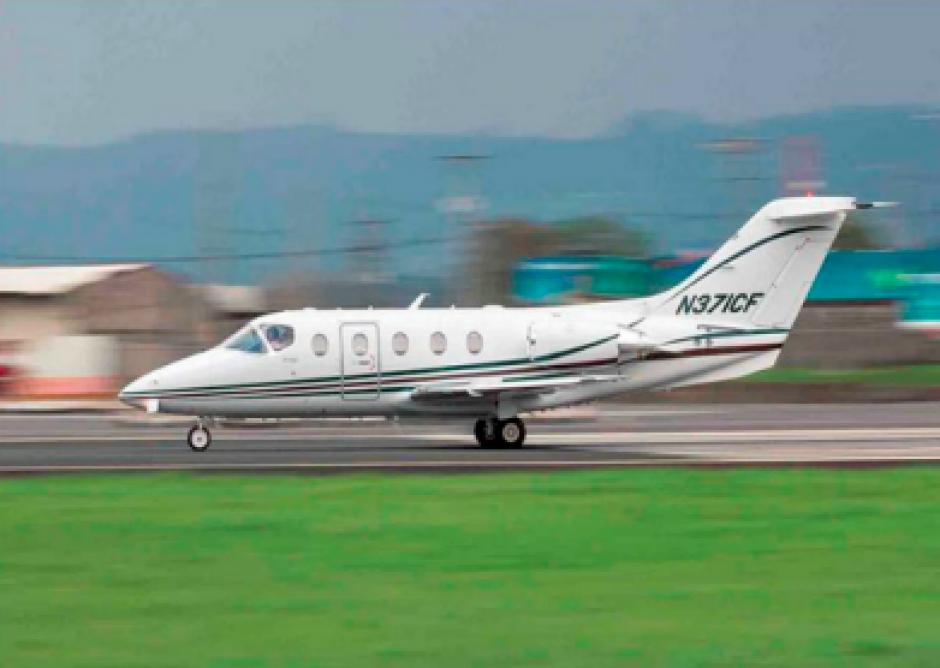 Otro de los juguete del expresidente es un jet valorado en más de 12.2 millones de quetzales. (Foto: CICIG)