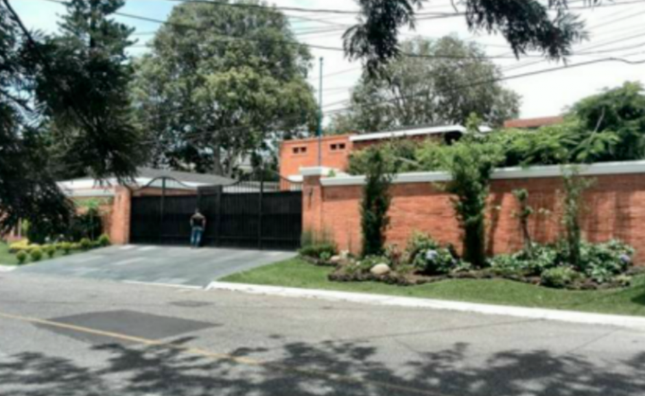 Una de las propiedades ligadas al exgobernante es una vivienda ubicada en la zona 15. (Foto: CICIG)