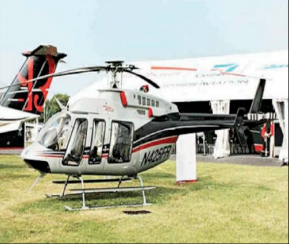 Otro de los regalos que recibió Perez de sus allegados es un helicóptero Bell 470-GX. (Foto: CICIG)