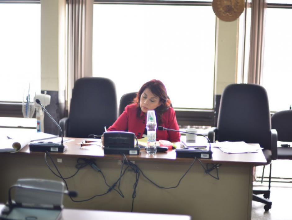 El debate oral se lleva a cabo en el Tribunal Quinto de Sentencia Penal. (Foto: Jesús Alfonso/Soy502)