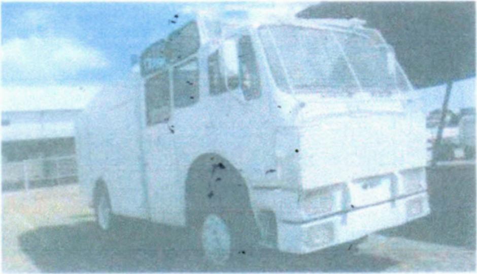El camión antidisturbios data de la década de los 80. (Foto: Ejercito de Guatemala)