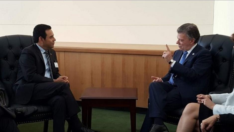Por la mañana Jimmy se reunió con el presidente de Colombia.  (Foto: AGN)