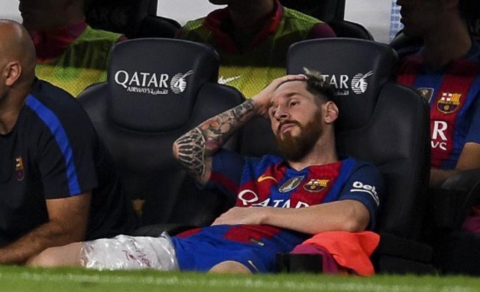 Aún no se sabe la gravedad de la lesión de Messi. (Foto: @Messi10Stats)