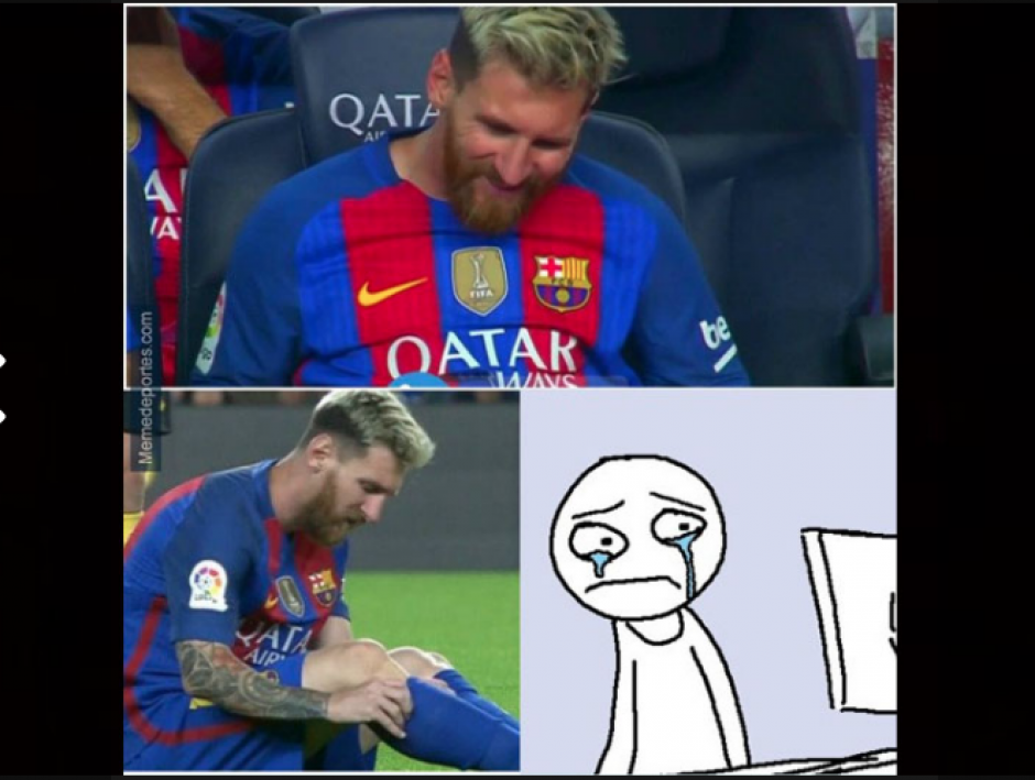 En las redes sociales la lesión de Messi fue comentada. (Foto: MemeDeportes)