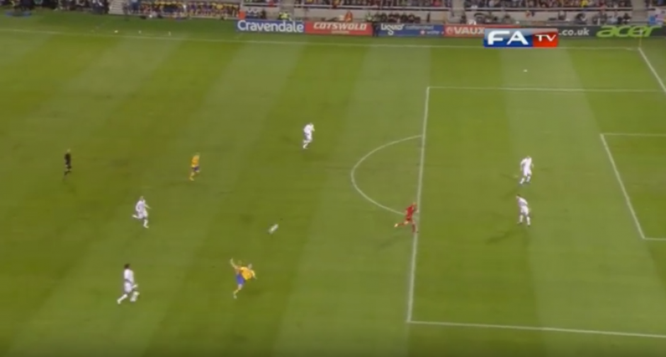 Desde allí metió Zlatan aquella gran chilena. (Captura de Pantalla)