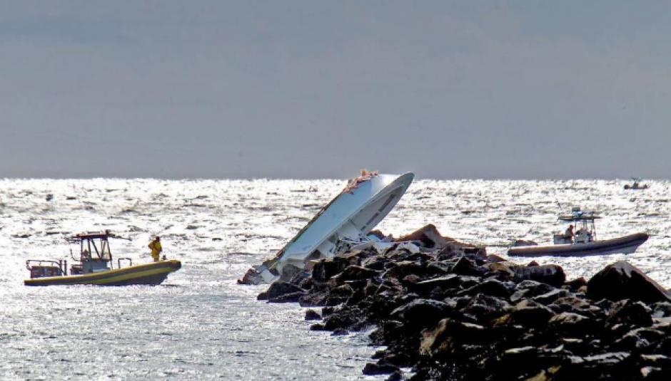La Guardia Costera reportó que iban a alta velocidad. (Foto: Patrick Farrell/Miami Herald)