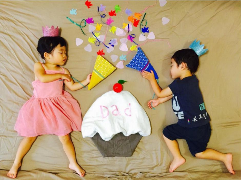 Su madre aprovecha sus siestas para hacerlos posar. (Foto: Instagram/@ayumiichi)