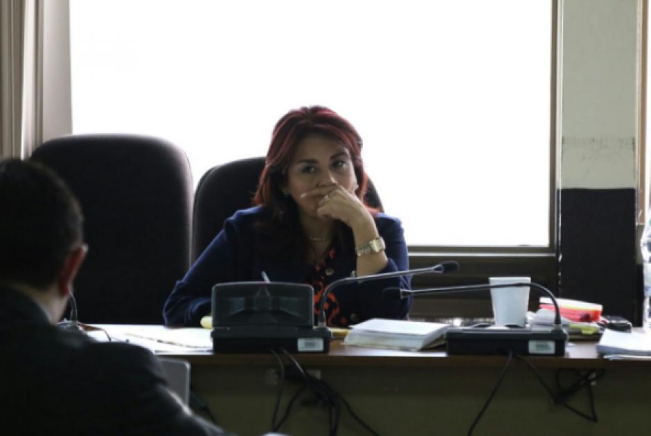 El debate oral se lleva a cabo ante el Tribunal Quinto de Sentencia Penal.  (Foto: Alejandro Balán/Soy502)