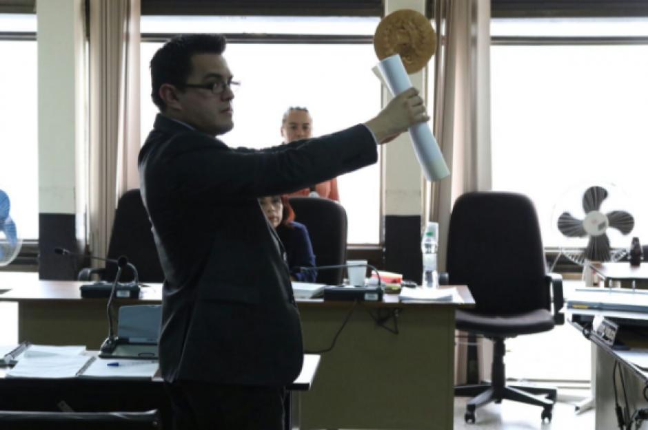 La jueza ratificó la denuncia de coacción contra el exdiputado. (Foto: Alejandro Balán/Soy502)