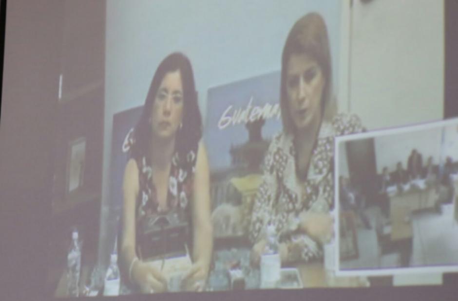 Claudia Escobar declaró por videoconferencia en el juicio contra Gudy Rivera. (Foto: Alejandro Balán/Soy502)
