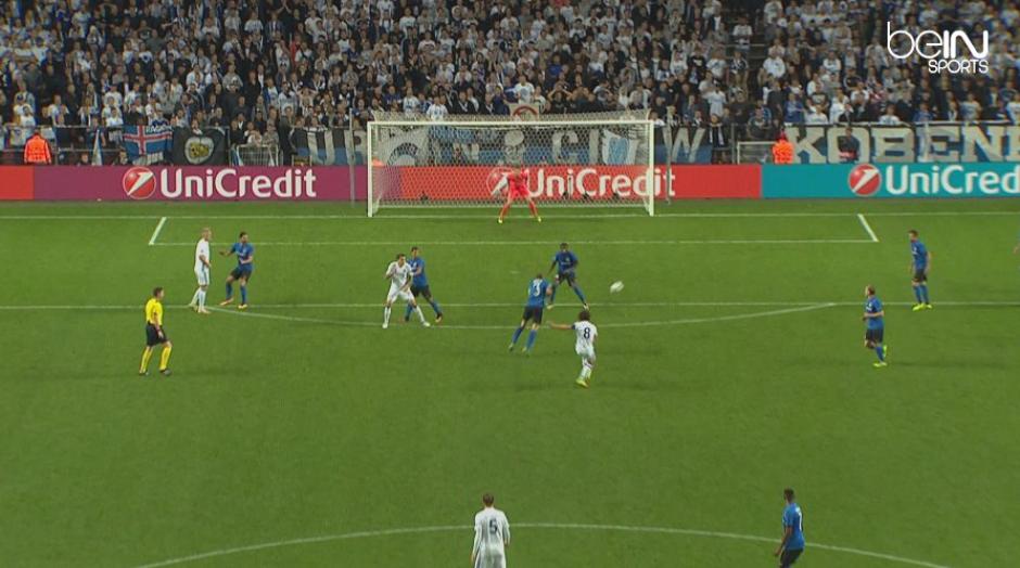 El danés Thomas Delaney no volverá a meter un gol así. (Imagen: BeIn Sports)