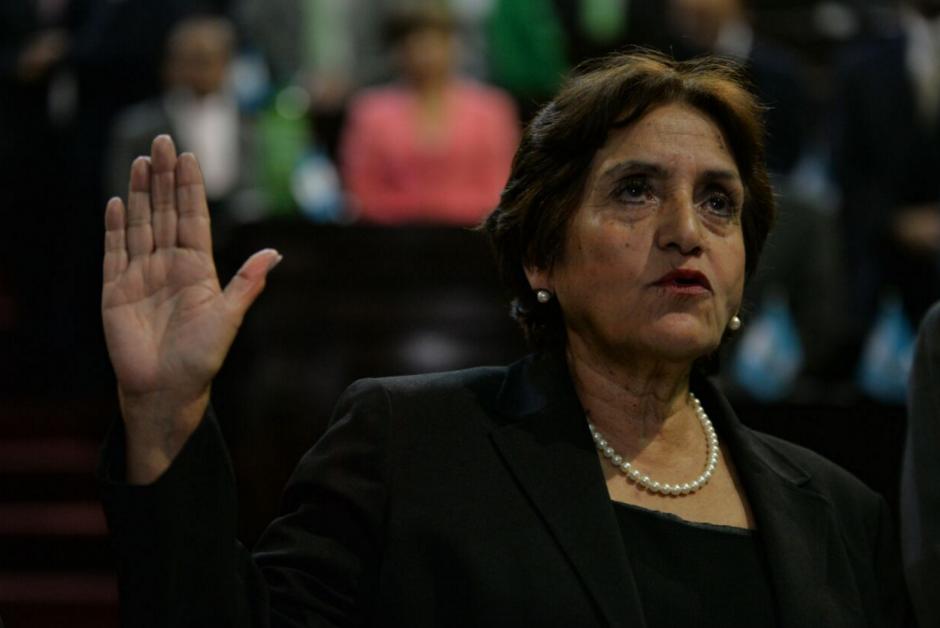 Elizabeth Mercedes García fue juramentada como Magistrada de la CSJ. (Foto: Wilder López/Soy502)