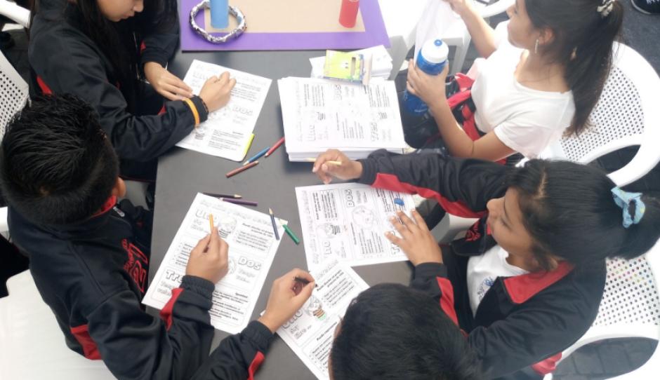 También se realizaron actividades dirigidas a estudiantes. (Foto: PDH)