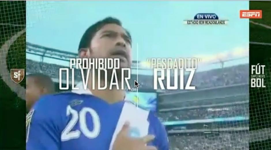"""Los goles de """"el Pescadito"""" Ruiz en la sección Prohibido olvidar de Simplemente Futbol. (Foto: Captura de video)"""