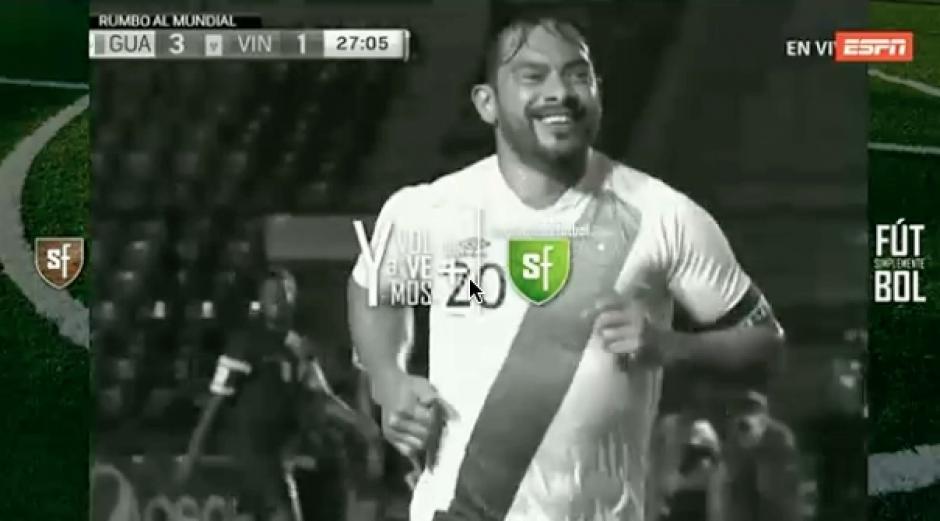 Carlos Ruiz y sus goles fue visto por millones en latinoamérica en Simplemente Futbol. (Foto: Captura de video)