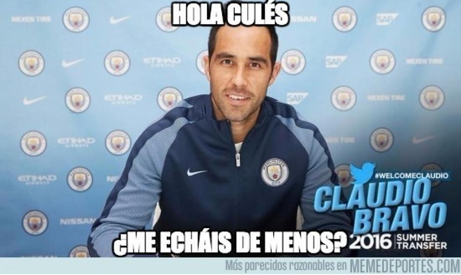 Claudio Bravo...¡cómo te extrañan! (MemeDeportes)