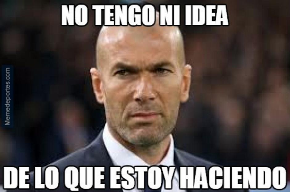 Zidane lleva 4 partidos sin poder ganar. (MemeDeportes)