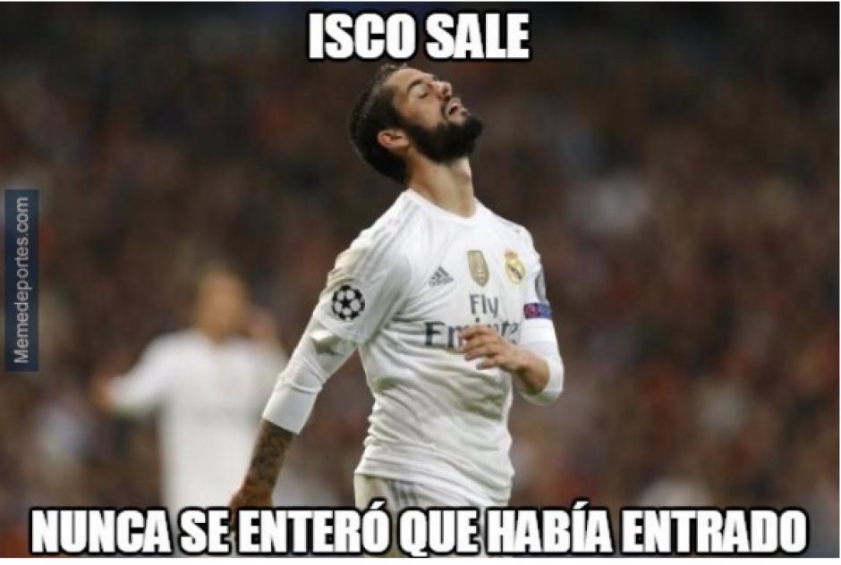 Isco se llevó los pitos del Bernabéu, no pudo reemplazar a Modric. (MemeDeportes)