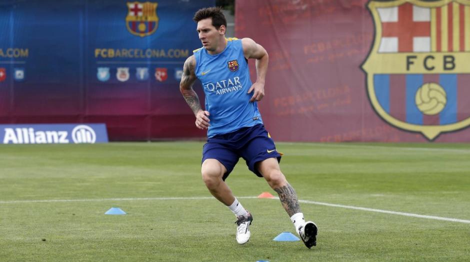 Se espera que Leo vuelva el 15 contra el Deportivo. (Foto: FCB.com)
