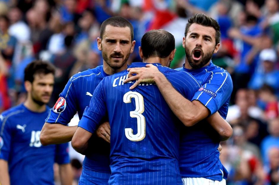 Italia venció con clase en el encuentro de octavos en la Euro. (Foto: AFP)