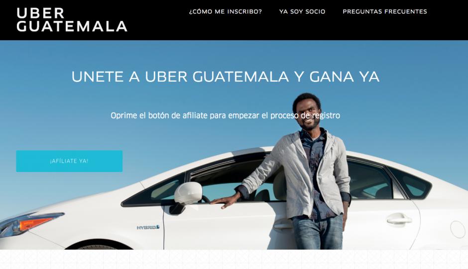 Para ser piloto de Uber ya te puedes inscribir en la página oficial. (Foto: Uber)