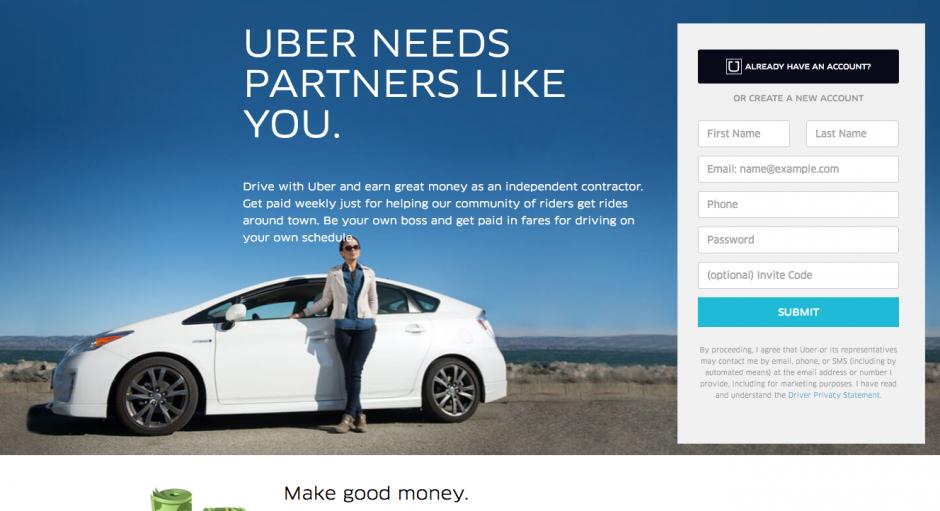 Los datos que solicita la página son pocos. (Foto: Uber)