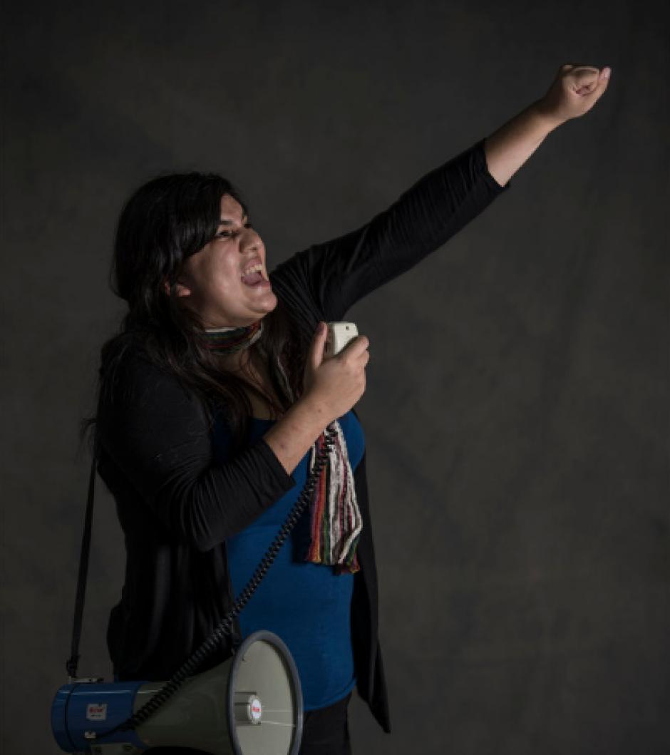 Andrea María Reyes, de 26 años, es estudiante de la Universidad Rafael Landívar. (Foto: Oliver de Ros/The New York Times)