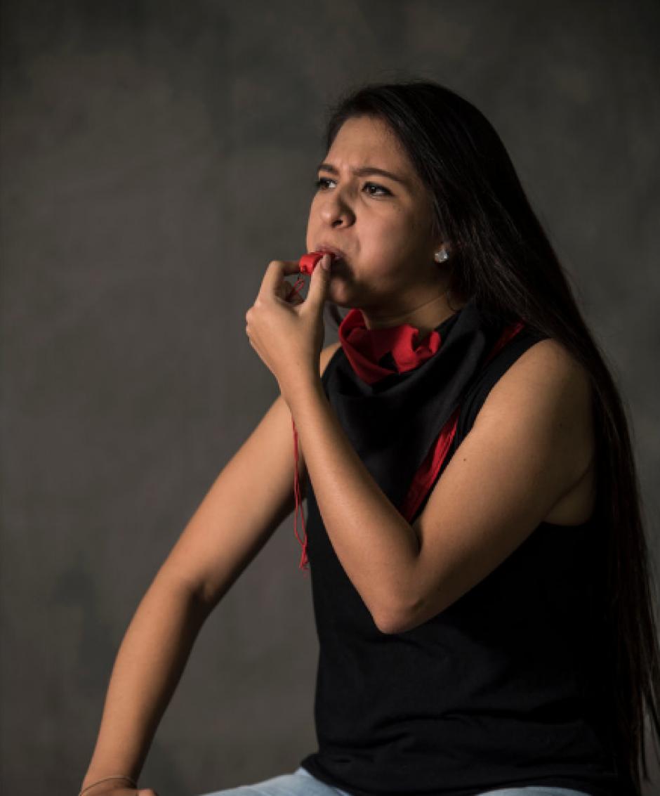 Ivonne Monterroso, de 21 años, es informática en recursos humanos y licenciada en Relaciones Internacionales. (Foto: Oliver de Ros/The New York Times)