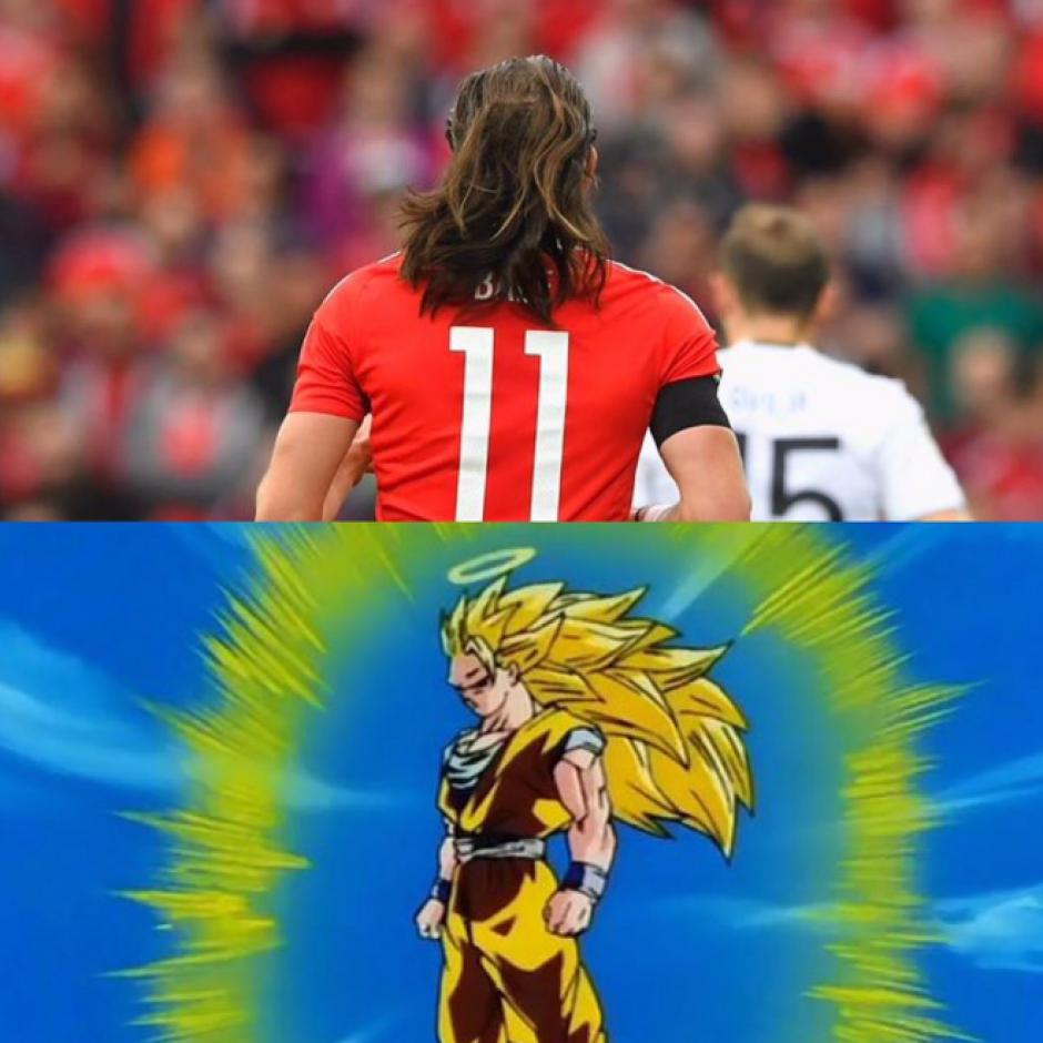 La cabellera del galés se hizo viral. (MemeDeportes)