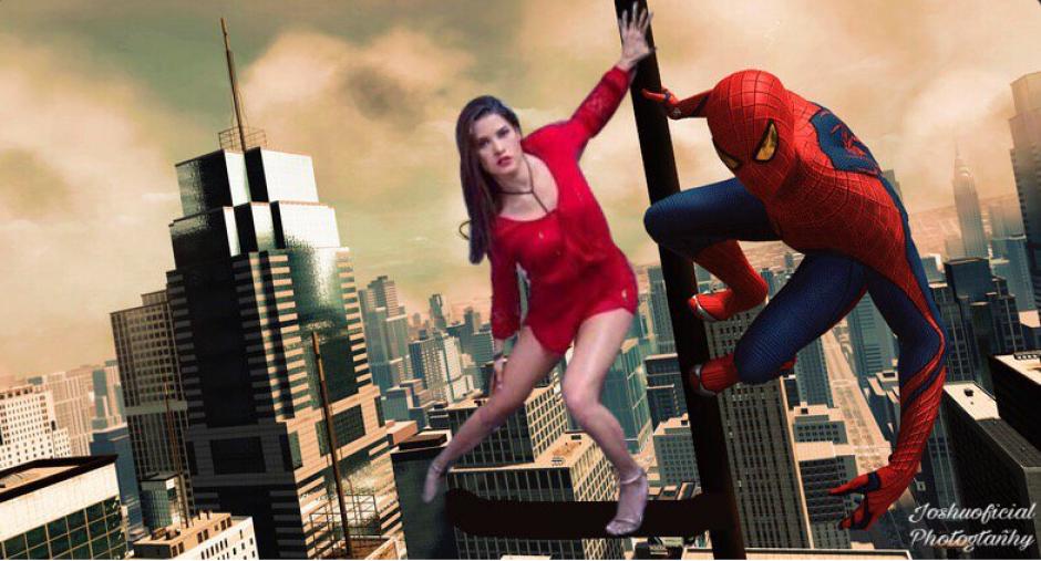 Y no podía faltar quien la colocara en alguna película como Spider-Man. (Foto: Twitter, @joshuoficial)