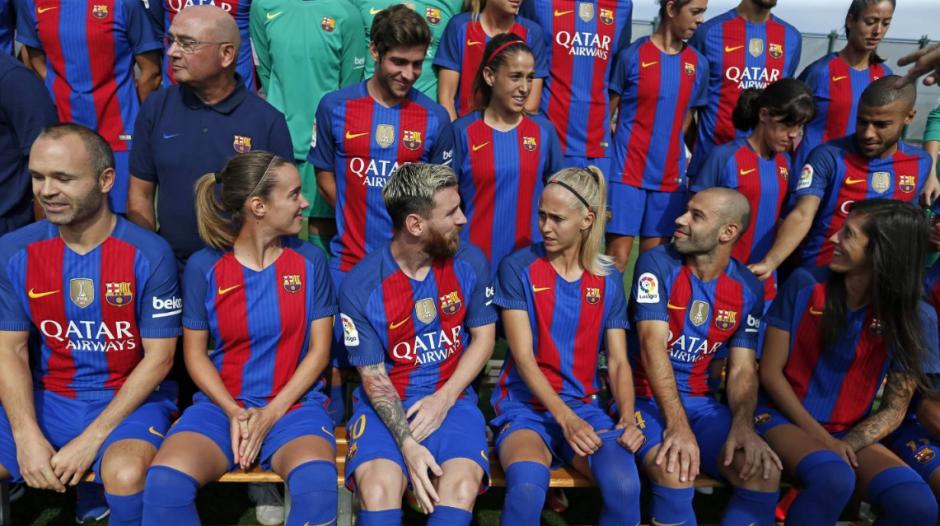 El FCB juntó a sus dos principales equipos. (Foto: FCB)