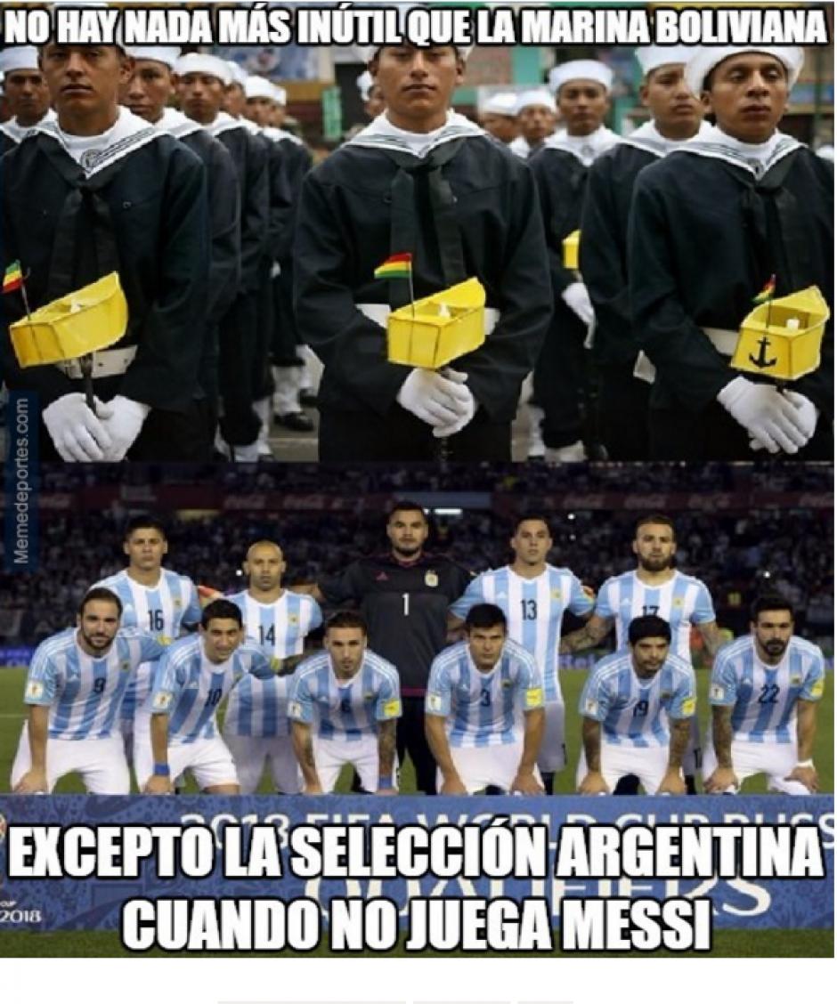 Argentina jugó mal, casi inexistente. (Memedeportes.com)