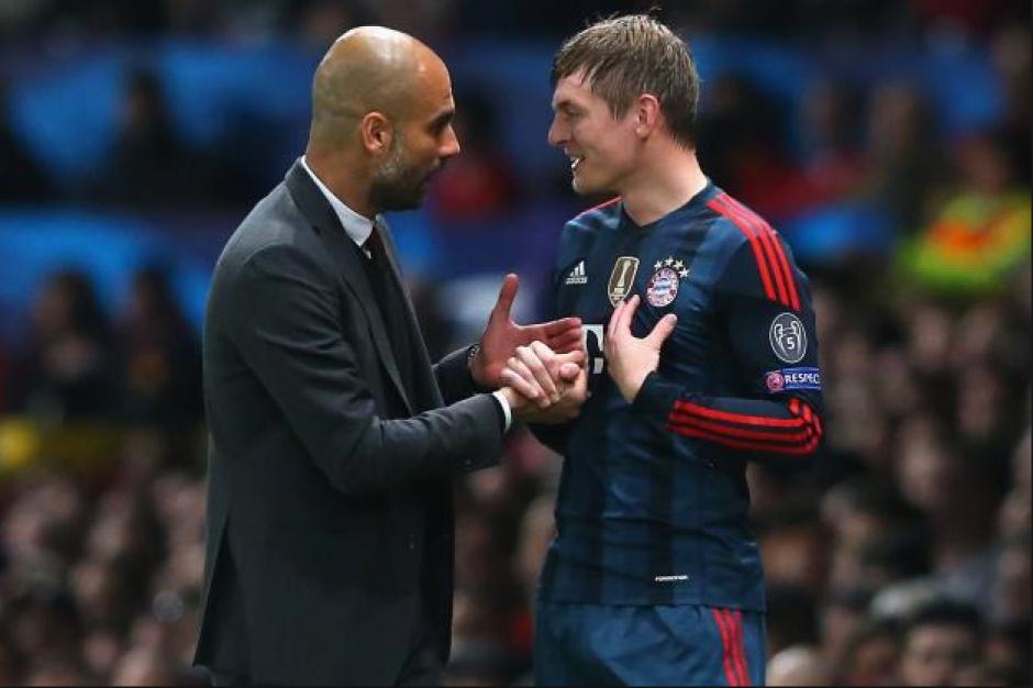 Pep con Toni, cuando coincidieron en el Bayern. (Foto: Bild.de)