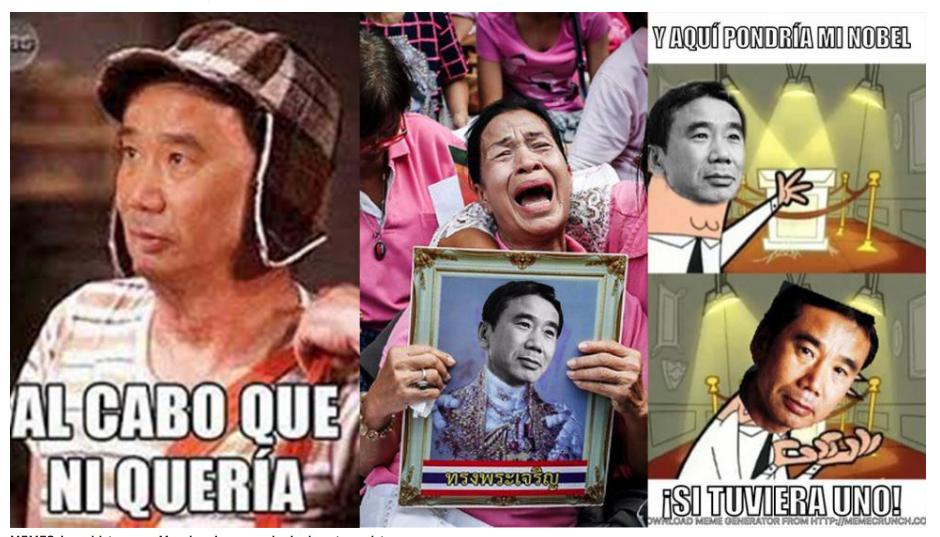 """La mayoría de imágenes recuerda la """"derrota"""" de Murakami. (Foto: zocalo.com.mx)"""