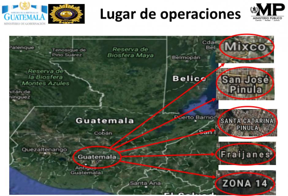 La estructura operaba en tres municipios y en la zona 14 capitalina. (Foto: MP)