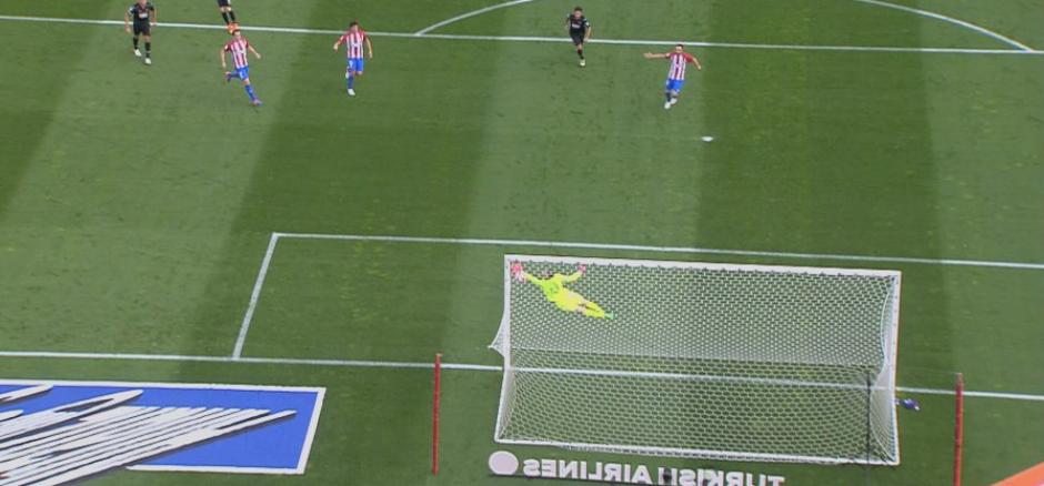Toma del golazo de Isaac Cuenca. (Foto: BeIn Sports España)