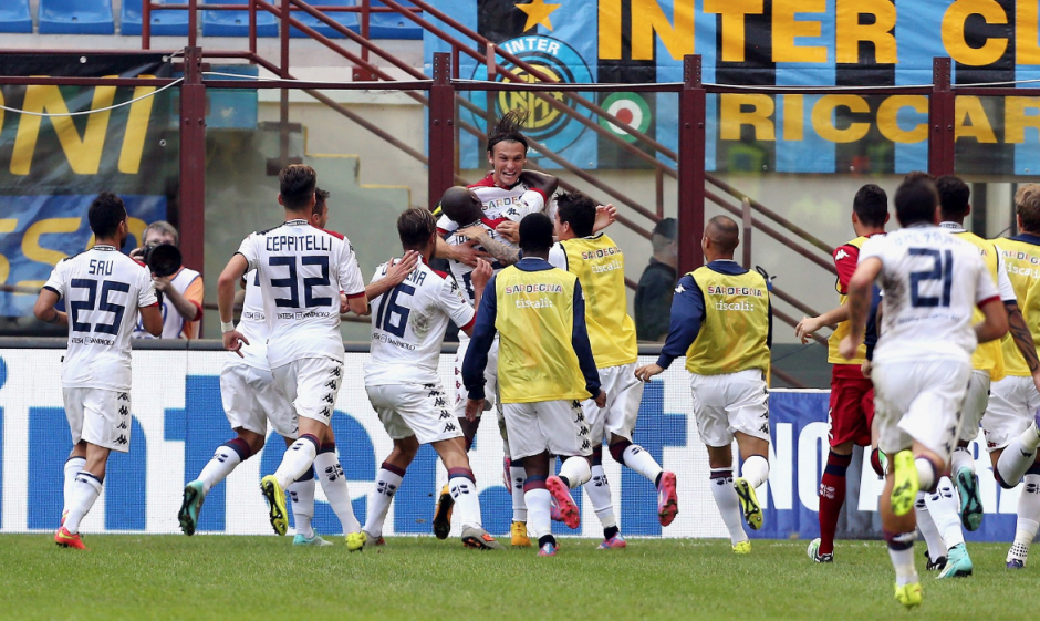 El Cagliari venció en casa del Inter de Milán. (Foto: AFP)
