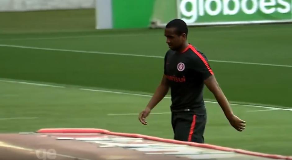 El brasileño abandonó el entrenamiento. (Imagen: captura de pantalla)