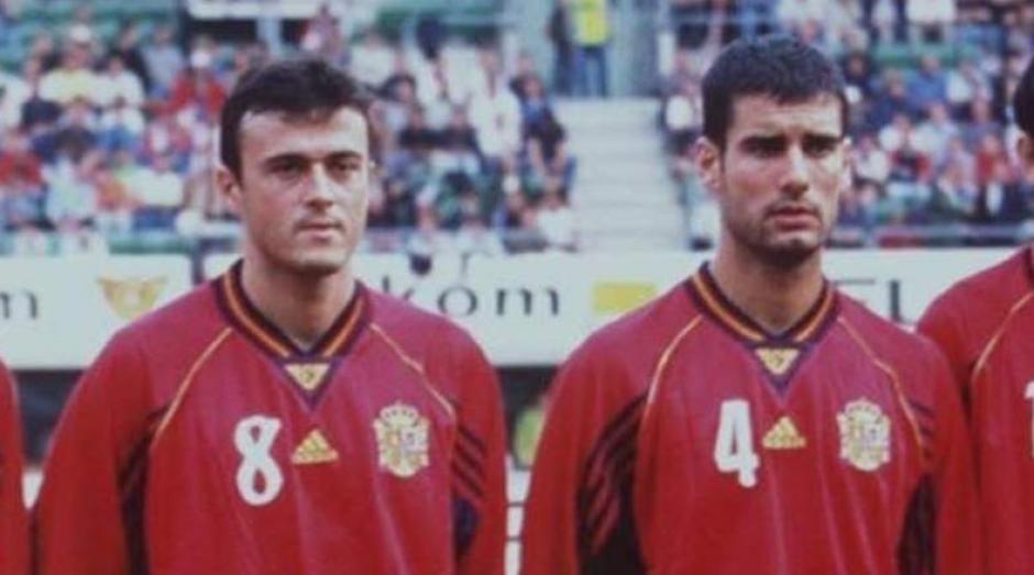 Los dos técnicos con la selección española (Foto: Diario AS)