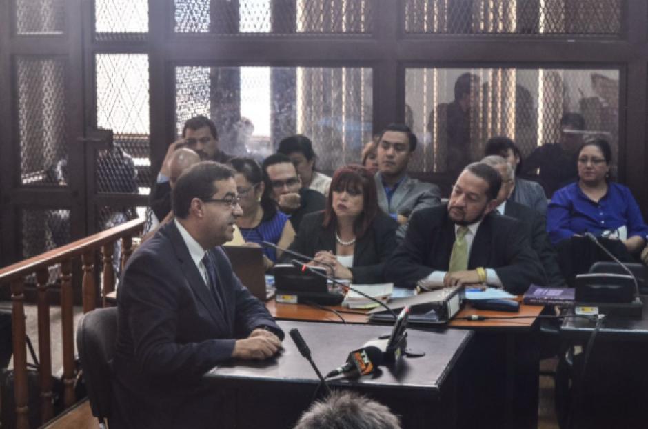 Algunos acusados, entre ellos el exdelegado del Banguat en la Junta Directiva del IGSS, solicitaron que no se atrasara más el proceso. (Foto: Jesús Alfonso/Soy502)